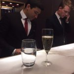 Champagne at arrival. Why not?