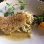 Seasonal menu favorites include artichoke wrapped in zucchini, lobster & scallops, sea bass and