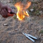 Calvin taught us survival in the desert - burning needles off cactus to get to the edible center