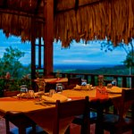 Restaurant with view overlooking the valley.