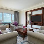 Diplomatic Suite living room with a stunning sea view