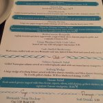 Menus, lobster fritters and the Mermaids Trio dinner
