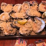 Baked oysters sampler highly recommended