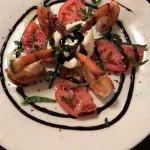 barrata - mozzarella with shrimp