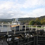 Boat entering the Fort Augustus Lock