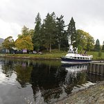 Boat leaving the Canal entering into Loch Ness