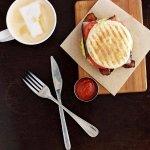 Egg Sandwich & Latte
