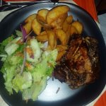 Another view of the jerk chicken