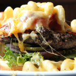 Casey's Original burger with Bacon plus Mac & Cheese. WOW!