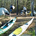 Stayed one night at Paddle in camp site on the pond and one night at the paddle n site on Bennet