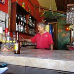 Cesar, the bartender at Macaw's. My father and I had a great time chatting and poking fun with h