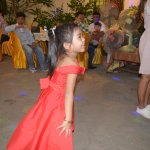 cute little girl dancing