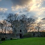 Usk castle March early evening