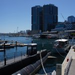 The submarine and Darling Harbour