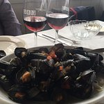 Mussels family style at Harvest on Fort Pond