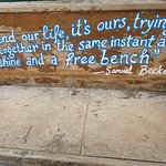 Cool bench outside