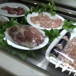 Display of meats