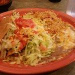 Chicken taco plate