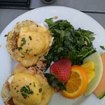 Trout Benedict at the cafe