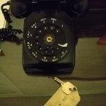 Our in-room rotary phone!