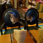 One highlight, very cute Welsh Corgi painted onto these chairs