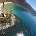 Aerial tour of Sand Harbor, Lake Tahoe with Hang Gliding Tahoe.