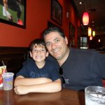 My husband and Tyler. Very clean at Applebee's