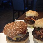 This is the Thai Grrrr Burger on the right. It was fabulous!