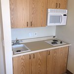 In-room kitchenette.