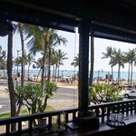 Wakiki beach from our table