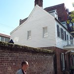 Jonathan in front of the oldest house in Savannah