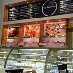 A wonderful menu of delicious pastries and sandwiches.
