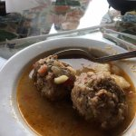 Albondigas soup, yummy.