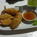 Prawn tempura with the sweet chillies dip