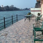 Spacious private Ghat of the hotel Ganga Sadan Haridwar