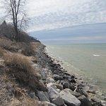 View along the Lake Michigan coast at Duck Lake State Park