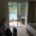 Very nice and clean room love the spa on our private deck or jump straight into pool
