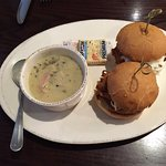 lunch special- cup of soup (wild rice) & sandwich (pork sliders)