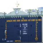 The old historic scoreboard at Adelaide Oval.