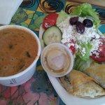 Mushroom soup & Spanakopita