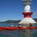 Passage au Pilier de l'Isle-aux-Coudres en excursion de journée complète en kayak de mer.