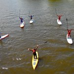 Planches à pagaie - Stand up paddle board SUP - dans l'embouchure de la rivière du Gouffre à BSP