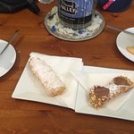 Lovely cafe off the Main Street with some beautiful pastries and cakes. Hard to choose and all f