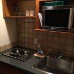 small kitchenette.