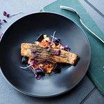 Barramundi, shellfish cassoulet, squid ink gnocchi