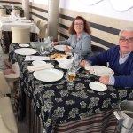 En la Cafetería del Hotel después de disfrutar del SPA