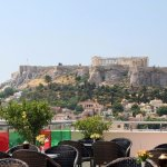 Roof Garden Bar with the best view of Acropolis in the morning !