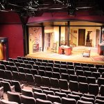 """The theatre with set of Ira Levin's """"Deathtrap"""""""