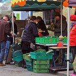 Kinvara Farmers market - shopping for organic vegitables