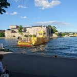 The electric ferry going between Vaxholm and Kastellholmen.